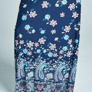 95766fe3def4c Plus Size Borderprint Paisley   Floral Maxi Skirt Boutique